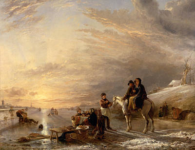 Painting - Frost Scene by William Collins