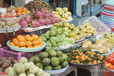 Persimon Photograph - Fruit Market by D R