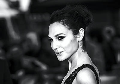 Ben Affleck Wall Art - Digital Art - Gal Gadot Print by Elizabeth Simon