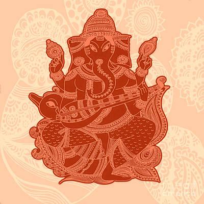 Gond Painting - Ganesha by Sketchii Studio
