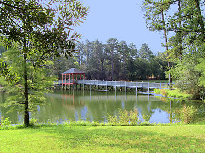 Art Print featuring the photograph Gazebo On The Lake by Diane Ferguson