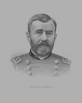 Landmarks Drawing - General Grant - Two by War Is Hell Store