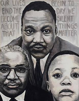 Painting - 3 Generations by Jeleata Nicole