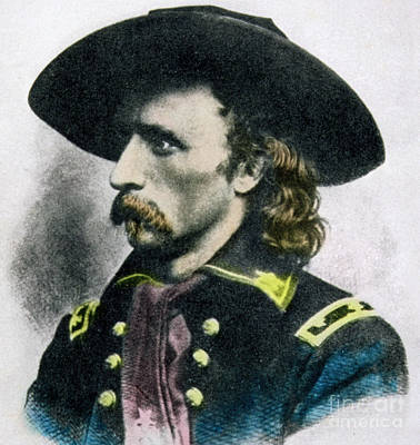 Sioux Drawing - George Armstrong Custer by American School