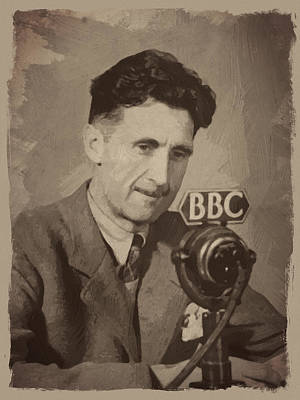 Author Digital Art - George Orwell 1 by Afterdarkness