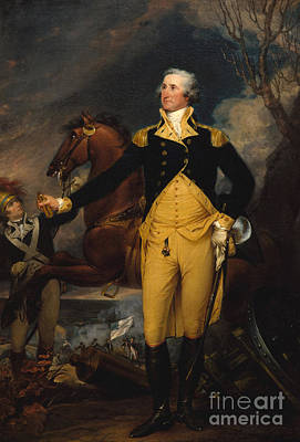Revolutionary War Of 1776 Painting - George Washington Before The Battle Of Trenton by John Trumbull