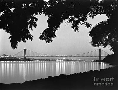Painting - George Washington Bridge by Granger