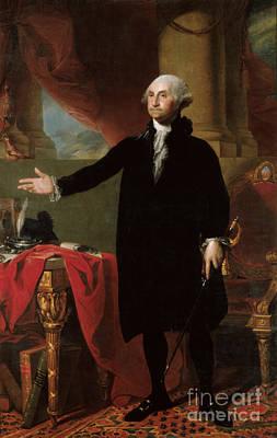July 4 Mixed Media - George Washington by Frederick Holiday