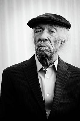 Photograph - Gerald Wilson Portrait By Anna Webber, Shot At The Hollywood Roo by Anna Webber