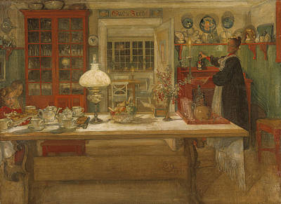 Painting - Getting Ready For A Game by Carl Larsson