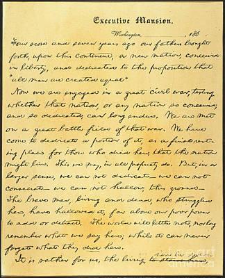 Gettysburg Address Photograph - Gettysburg Address by Granger