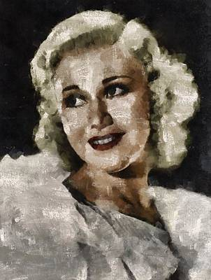 Elvis Presley Painting - Ginger Rogers Hollywood Actress And Dancer by Mary Bassett
