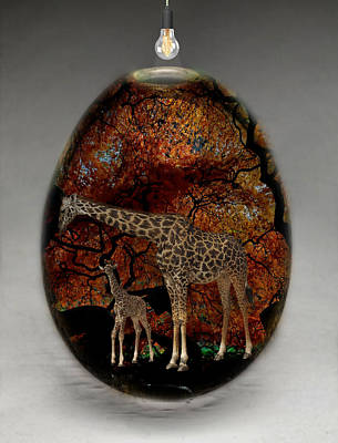 Giraffe Mixed Media - Giraffe Art by Marvin Blaine