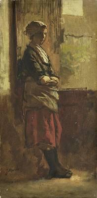 Girl At The Window, Art Print