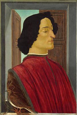 Court Painting - Giuliano De' Medici by Sandro Botticelli