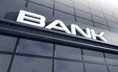 Laser Cut Digital Art - Glass Bank Building Signage by Allan Swart