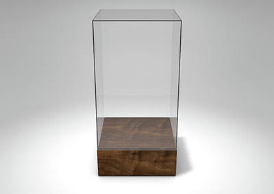 Void Digital Art - Glass Display Case by Allan Swart
