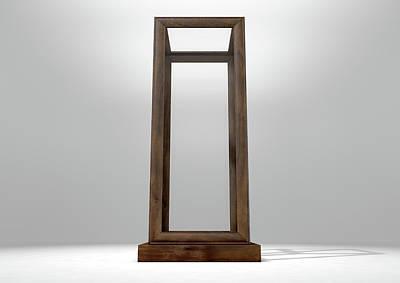 Nothing Digital Art - Glass Display Case Verticle by Allan Swart