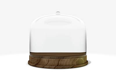 Void Digital Art - Glass Dome Display Case by Allan Swart