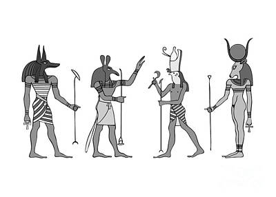 Digital Art - Gods Of Ancient Egypt by Michal Boubin