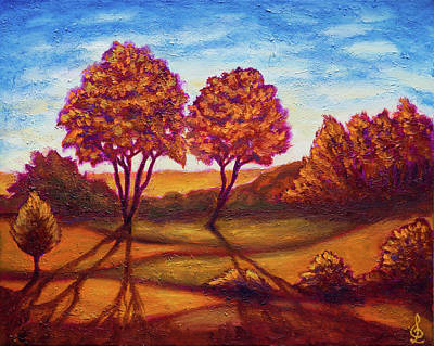 Painting - Golden Autumn by Lilia D