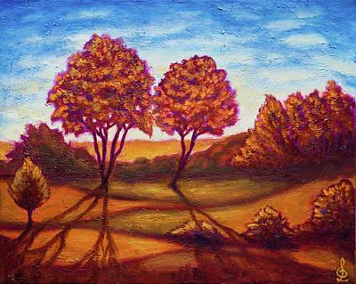 Painting - Golden Autumn by Lilia D