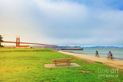 Photograph - Golden Gate Bridge Crissy Field by Benny Marty