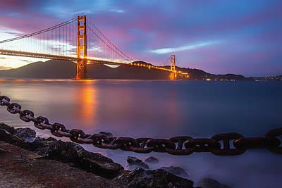 Photograph - San Francisco's Golden Gate Bridge by Lev Kaytsner