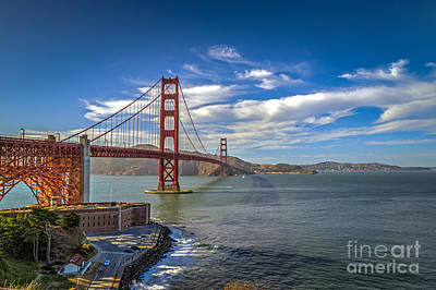 Photograph - Golden Gate Suspension Bridge by David Zanzinger