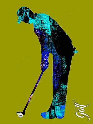 Mixed Media - Golf Collection by Marvin Blaine