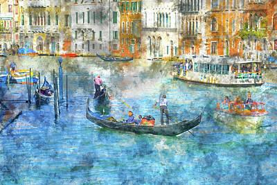 Photograph - Gondolas In Venice Italy by Brandon Bourdages