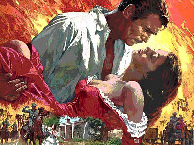 Gone With The Wind Art Print by Charles Shoup