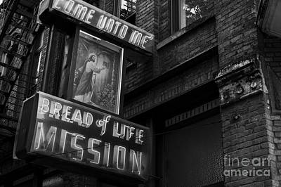 Social Mission Photograph - Gospel Mission Downtown by Jim Corwin
