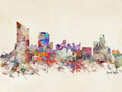 Colourfull Painting - Grand Rapids Michigan by Bleu Bri