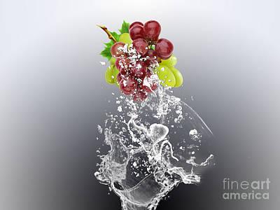 Grape Mixed Media - Grape Splash by Marvin Blaine