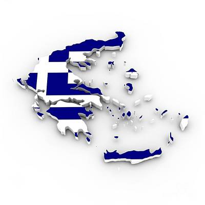 Patriotism Mixed Media - Greece Flag by Frederick Holiday