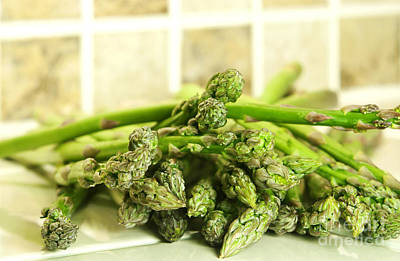 Sprout Photograph - Green Asparagus by Blink Images