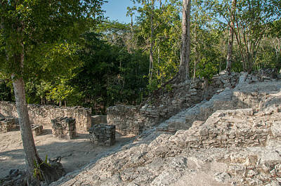 Digital Art - Grupo Coba At The Coba Ruins  by Carol Ailles