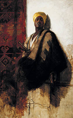 Guard Of The Harem Print by Frank Duveneck