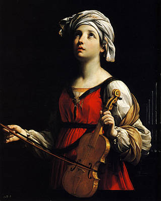 St Cecilia Painting - Guido Reni by MotionAge Designs