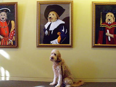 Gunther At His Show  Art Print by Diane Daigle