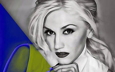 Rock Band Mixed Media - Gwen Stefani Collection by Marvin Blaine
