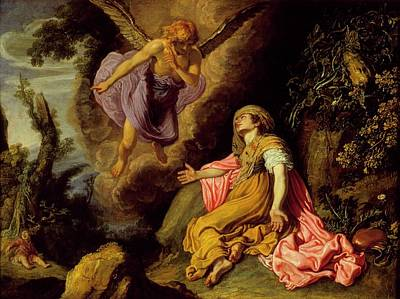 Night Angel Painting - Hagar And The Angel by MotionAge Designs