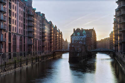Inner Harbor Photograph - Hamburg - Germany by Joana Kruse