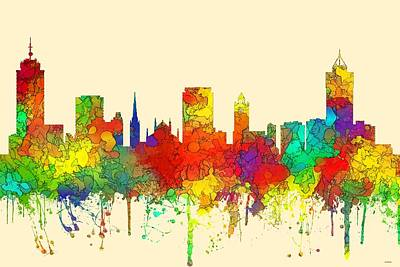 Digital Art - Hamilton Ont. Skyline by Marlene Watson
