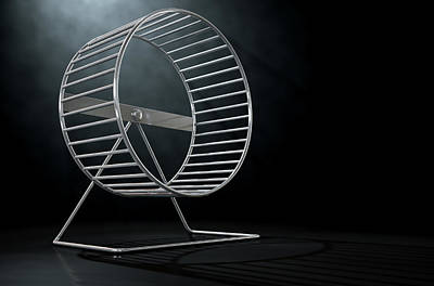 Steel Digital Art - Hamster Wheel Empty by Allan Swart