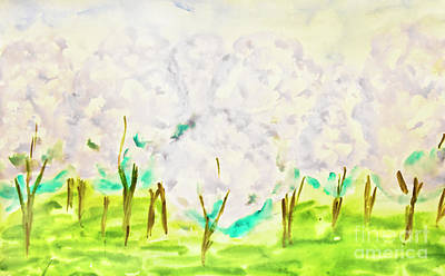 Painting - Hand Painted Picture, Spring Garden by Irina Afonskaya