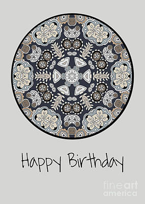 Vale Mixed Media - Happy Birthday by Pam Vale