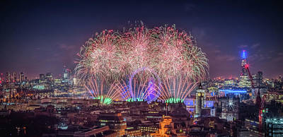 Photograph - Happy New Year 2018 by Stewart Marsden