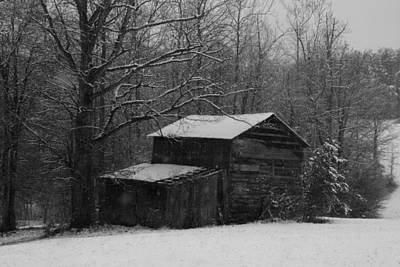 Photograph - Hardscrabble Barn In The Snow by Kathryn Meyer